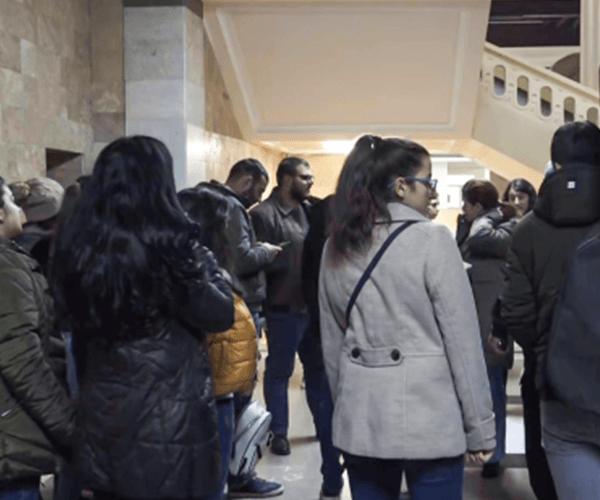 Ուսանողները դադարեցրել են բողոքի ակցիան