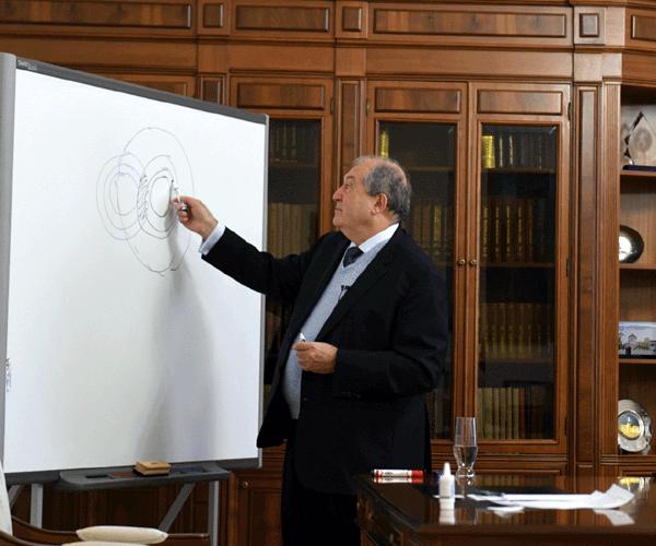 Արմեն Սարգսյանը դասախոսություն է կարդացել բժշկականի և պոլիտեխնիկականի ուսանողների համար
