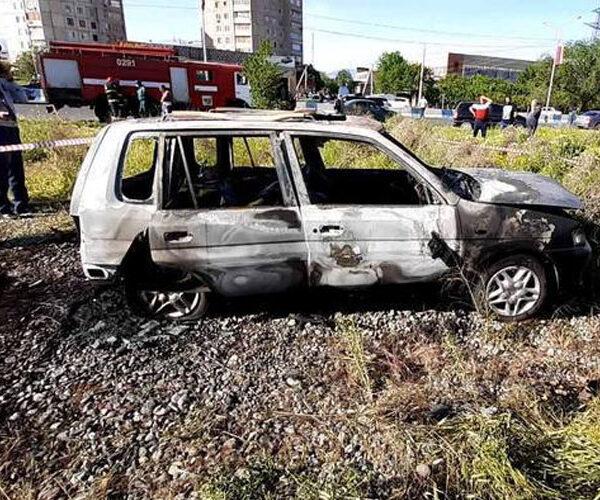 Էջմիածին քաղաքում մեքենա է այրվել. նախնական տվյալներով` կա մեկ զոհ
