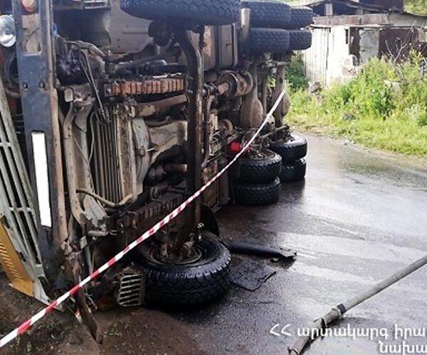 Սարալանջ-Արագյուղ ճանապարհին «ԿամԱԶ» է կողաշրջվել
