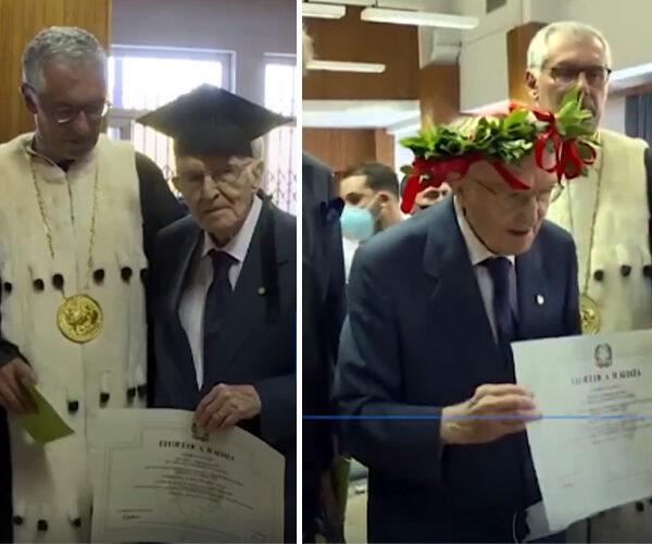 96-ամյա շրջանավարտը բակալավրի դիպլոմ է ստացել (տեսանյութ)