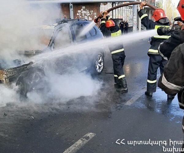 Երեւանում «BMW X5» մակնիշի մեքենա է այրվել