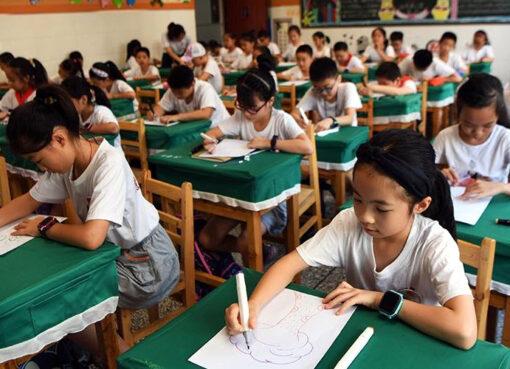 դպրոց, աշակերտ, Չինաստան