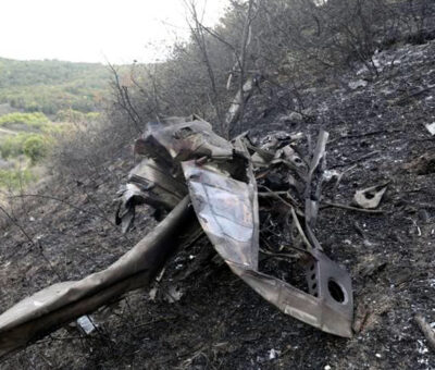 Ադրբեջանական խոցված ինքնաթիռի բեկոր