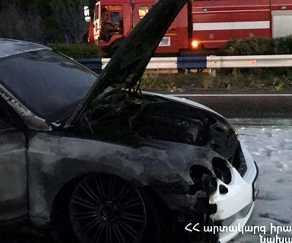 Երևան-Սևան ավտոճանապարհին «Bentley» է այրվել