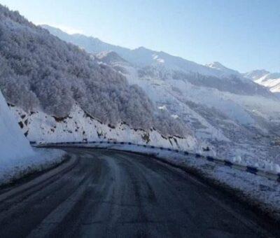 Ճանապարհ, ձմեռ, լեռ