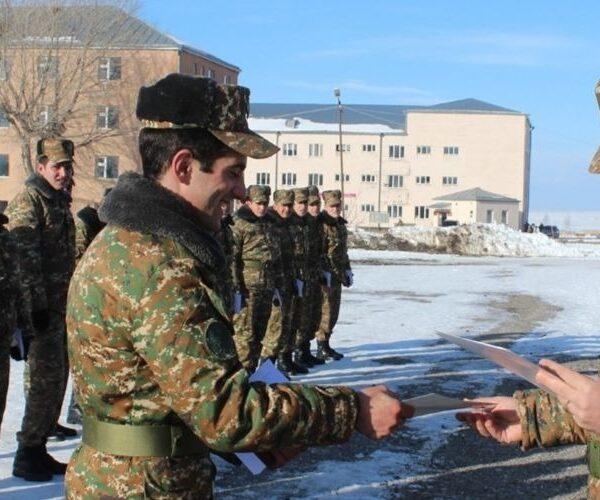 Տեղի է ունեցել զինծառայողների զորացրման հանդիսավոր արարողություն