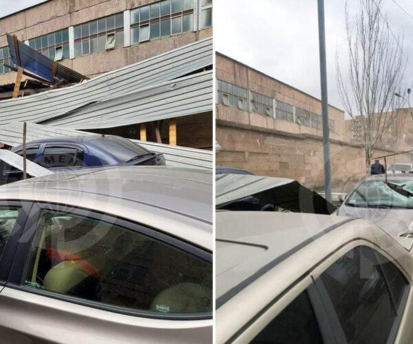 Երևանում ուժեղ քամիների հետևանքով ավերածություններ են գրանցվել