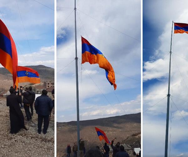 Շուռնուխում 30 մետրանոց հայկական դրոշ է բարձրացվել. տեսանյութ