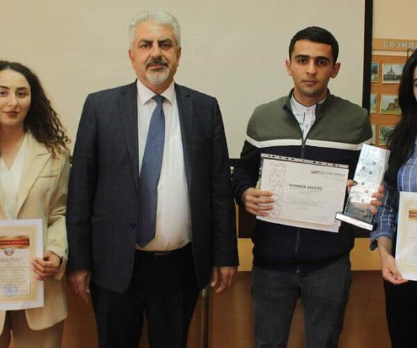 ԱրՊՀ ռեկտորը պարգևատրել է ազգային դատախաղ-մրցույթում հաղթած ուսանողներին