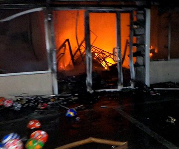 «Սուրմալու» կենտրոնում այրվել են խաղալիքների և տնտեսական ապրանքների տաղավարներ