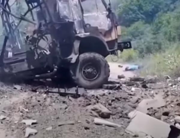 Քարվաճառի շրջանում ադրբեջանական «Կամազ» է պայթել. կան սպանվածներ ու վիրավորներ. տեսանյութ